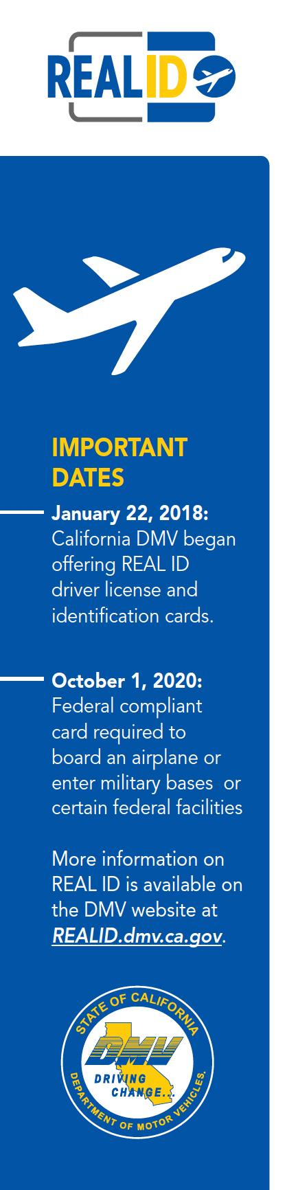 Real ID Important Dates